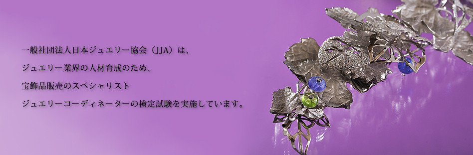 一般社団法人日本ジュエリー協会は、ジュエリー業界の発展を目指し、宝飾業界に関わる様々な課題の解決に取り組むとともに、ジュエリーコーディネーター資格など人材育成に努めてまいります。